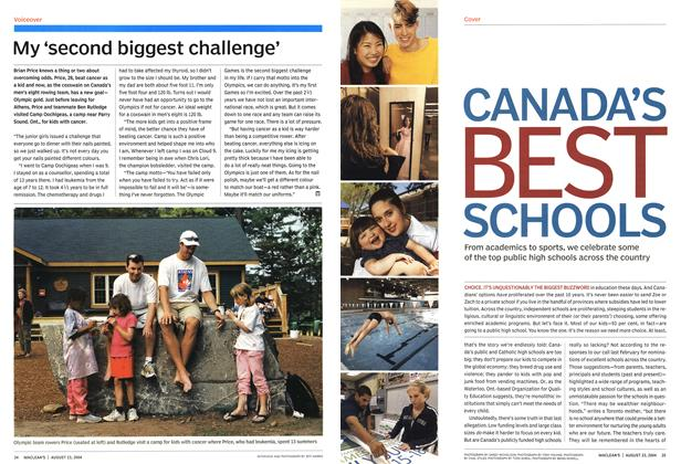 Article Preview: My'second biggest challenge', August 2004 | Maclean's