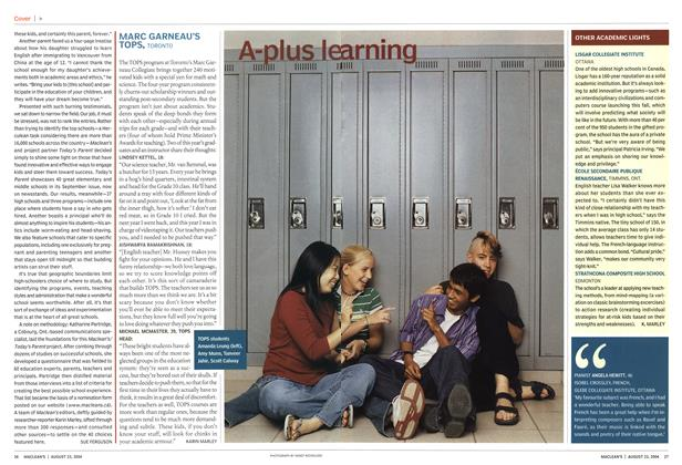 Article Preview: A-plus learning, August 2004 | Maclean's