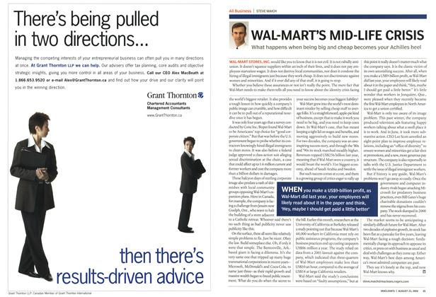 Article Preview: WAL-MART'S MID-LIFE CRISIS, August 2004 | Maclean's