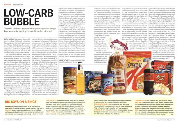 Article Preview: LOW-CARB BUBBLE, August 2004 | Maclean's
