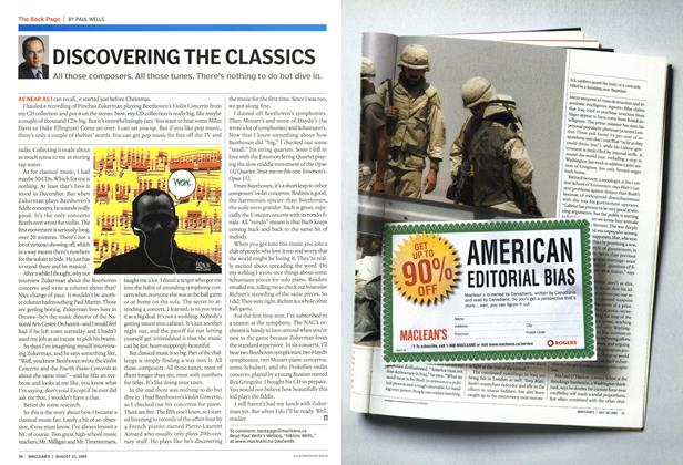 Article Preview: DISCOVERING THE CLASSICS, August 2004 | Maclean's