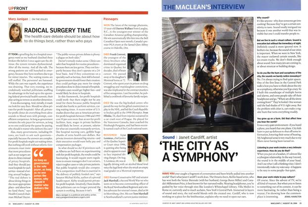 Article Preview: RADICAL SURGERY TIME, August 2004   Maclean's