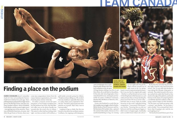 Article Preview: Finding a place on the podium, August 2004 | Maclean's