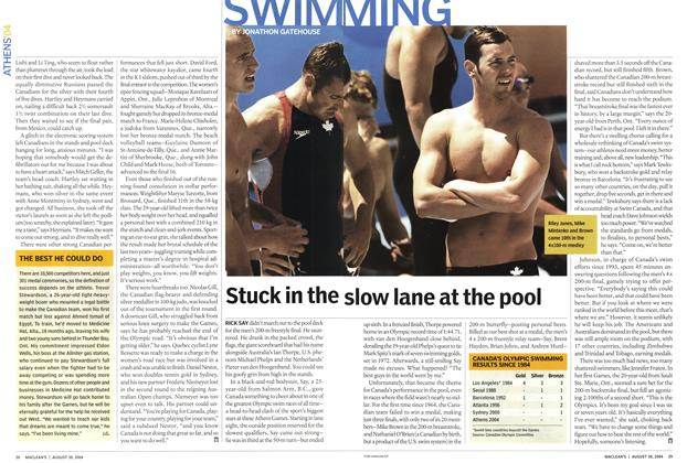 Article Preview: Stuck in the slow lane at the pool, August 2004 | Maclean's