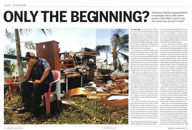 Article Preview: ONLY THE BEGINNING, August 2004 | Maclean's