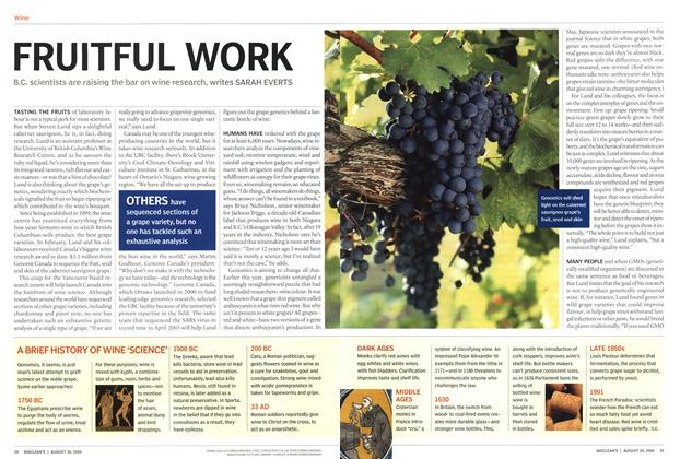 Article Preview: FRUITFUL WORK, August 2004 | Maclean's