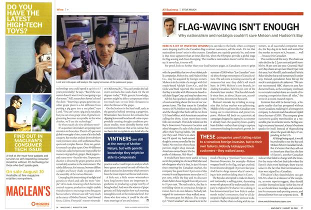Article Preview: FLAG-WAVING ISN'T ENOUGH, August 2004 | Maclean's
