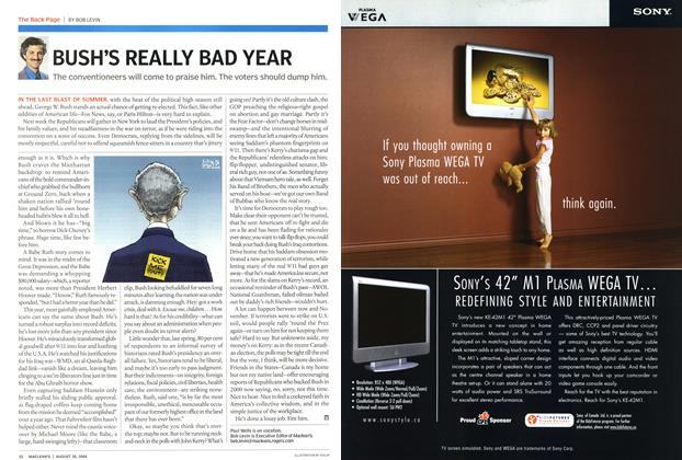Article Preview: BUSH'S REALLY BAD YEAR, August 2004   Maclean's