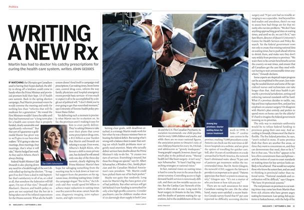 Article Preview: WRITING A NEW Rx, September 2004 | Maclean's