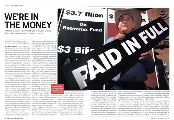 Article Preview: WE'RE IN THE MONEY, September 2004 | Maclean's