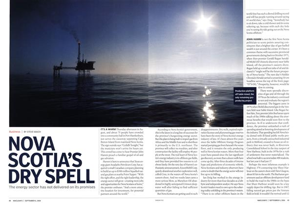 Article Preview: NOVA SCOTIA'S DRY SPELL, September 2004 | Maclean's