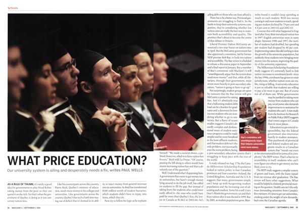 Article Preview: WHAT PRICE EDUCATION?, September 2004 | Maclean's