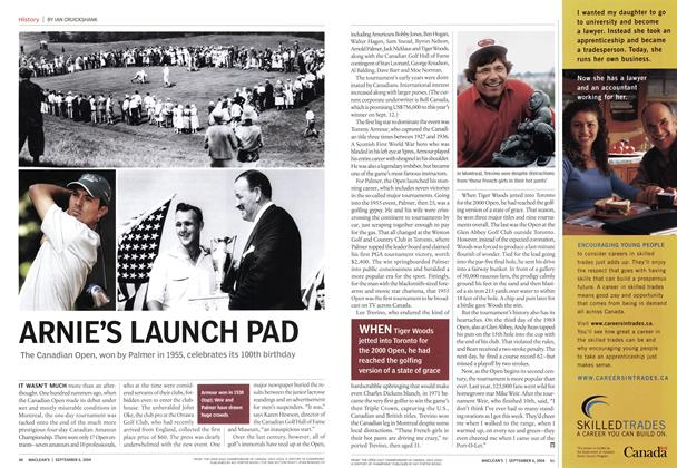 Article Preview: ARNIE S LAUNCH PAD, September 2004 | Maclean's