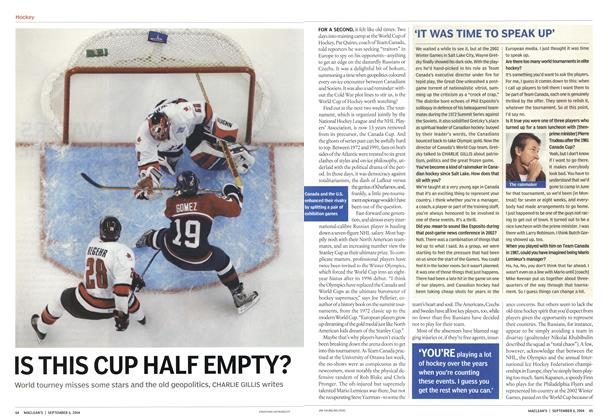 Article Preview: IS THIS CUP HALF EMPTY?, September 2004 | Maclean's
