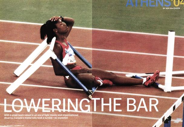 Article Preview: LOWERING THE BAR, September 2004 | Maclean's