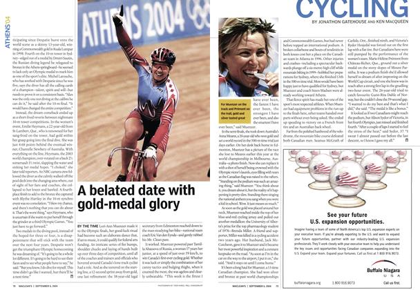Article Preview: CYCLING, September 2004 | Maclean's