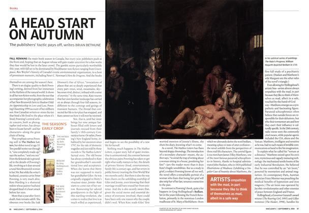 Article Preview: A HEAD START ON AUTUMN, September 2004 | Maclean's