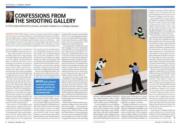 Article Preview: CONFESSIONS FROM THE SHOOTING GALLERY, September 2004   Maclean's