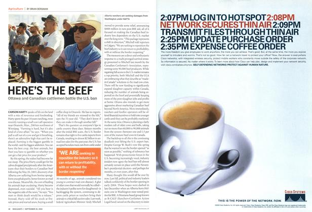 Article Preview: HERE'S THE BEEF, September 2004 | Maclean's