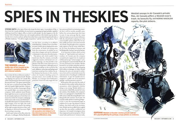 Article Preview: SPIES IN THE SKIES, September 2004 | Maclean's