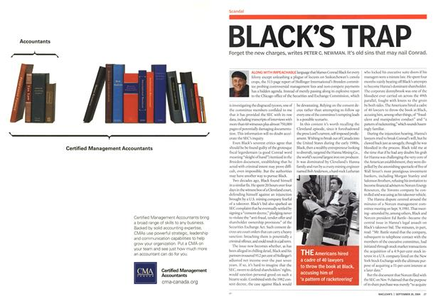 Article Preview: BLACK'S TRAP, September 2004 | Maclean's