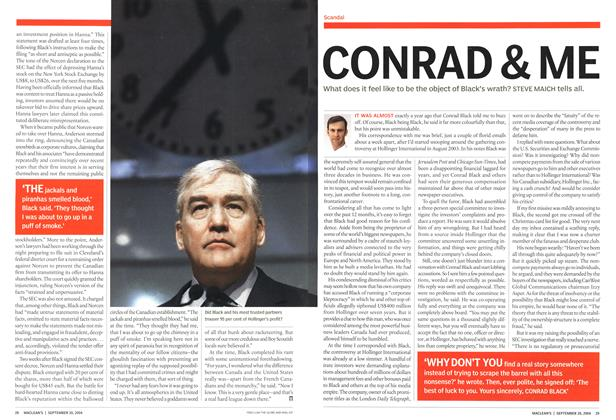 Article Preview: CONRAD & ME, September 2004 | Maclean's