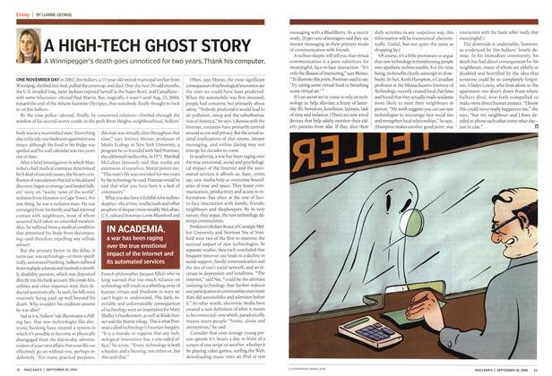 Article Preview: A HIGH-TECH GHOST STORY, September 2004 | Maclean's