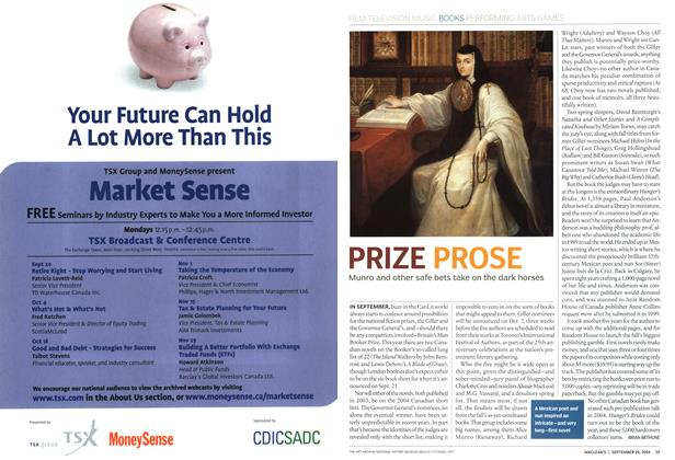Article Preview: PRIZE PROSE, September 2004 | Maclean's