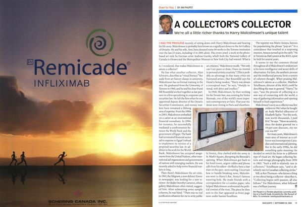 Article Preview: A COLLECTOR'S COLLECTOR, September 2004   Maclean's