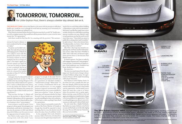Article Preview: TOMORROW, TOMORROW..., September 2004 | Maclean's