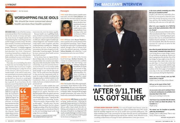 Article Preview: 'AFTER 9/11,THE U.S. GOT SILLIER', September 2004 | Maclean's