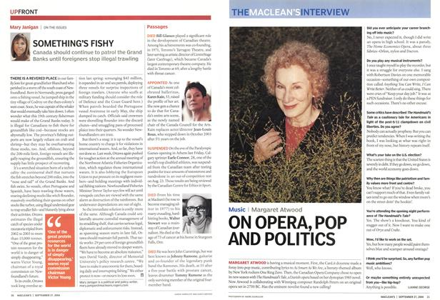 Article Preview: ON OPERA, POP AND POLITICS, September 2004 | Maclean's