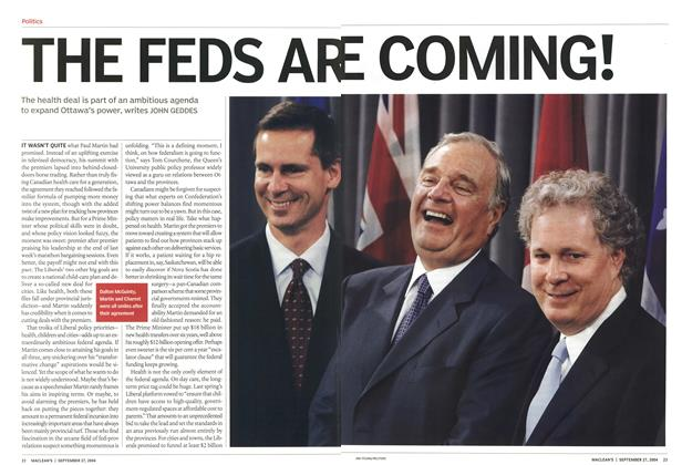 Article Preview: THE FEDS ARE COMING!, September 2004 | Maclean's