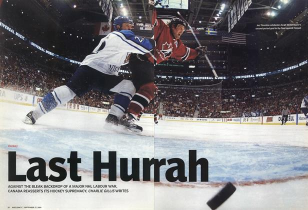 Article Preview: Last Hurrah, September 2004 | Maclean's