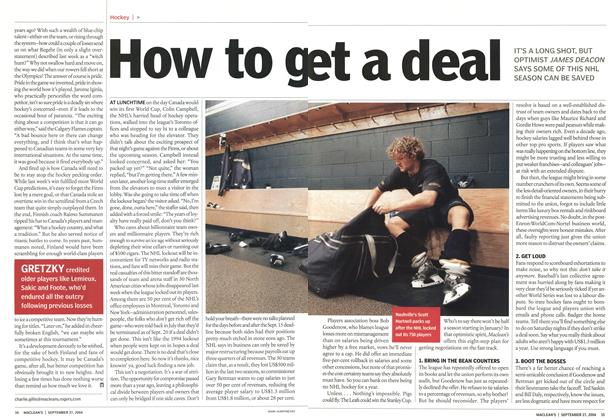 Article Preview: How to g et a deal, September 2004 | Maclean's