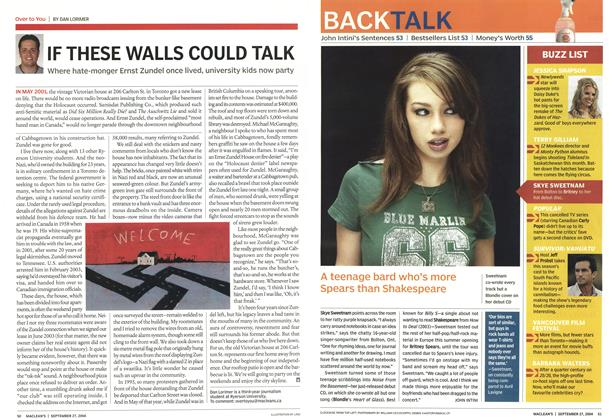 Article Preview: A teenage bard who's more Spears than Shakespeare, September 2004 | Maclean's