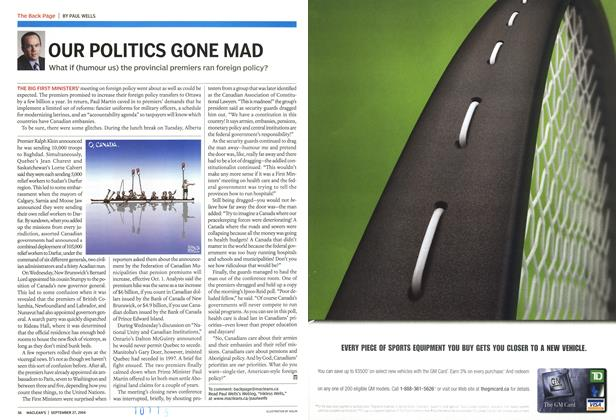 Article Preview: OUR POLITICS GONE MAD, September 2004 | Maclean's