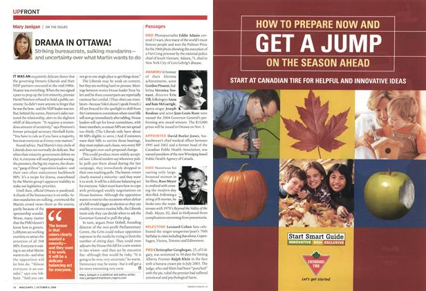 Article Preview: DRAMA IN OTTAWA!, October 2004 | Maclean's