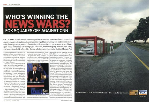 Article Preview: WHO'S WINNING THE NEWS WARS? FOX SQUARES OFF AGAINST CNN, October 2004 | Maclean's