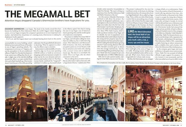 Article Preview: THE MEGAMALL BET, October 2004 | Maclean's