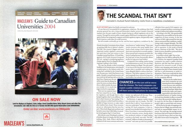 Article Preview: THE SCANDAL THAT ISN'T, October 2004 | Maclean's