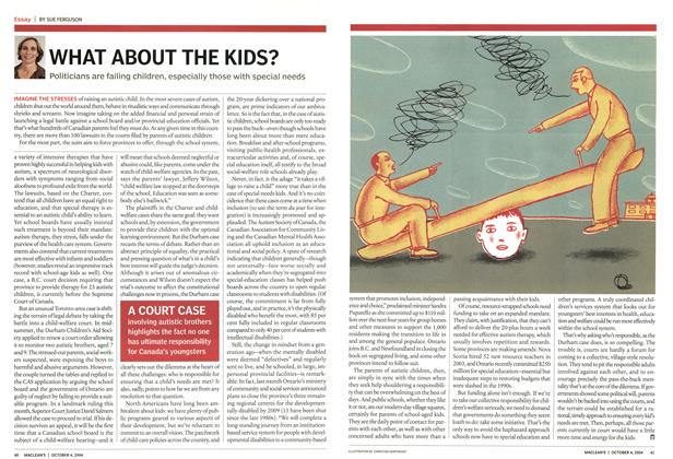Article Preview: WHAT ABOUT THE KIDS?, October 2004 | Maclean's