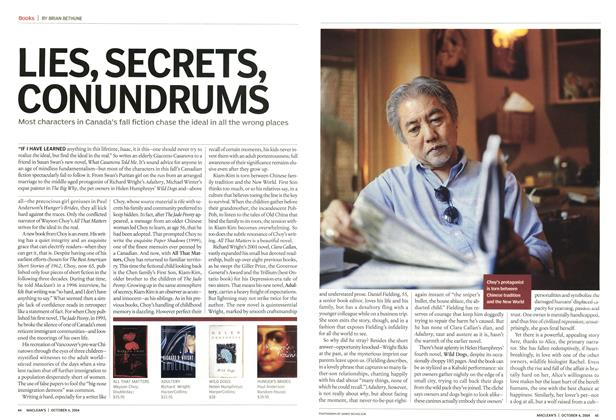 Article Preview: LIES, SECRETS, CONUNDRUMS, October 2004 | Maclean's