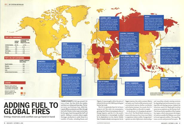 Article Preview: ADDING FUEL TO GLOBAL FIRES, October 2004   Maclean's