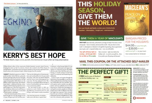 Article Preview: KERRY'S BEST HOPE, October 2004 | Maclean's
