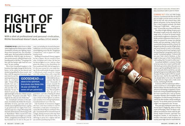 Article Preview: FIGHT OF HIS LIFE, October 2004 | Maclean's