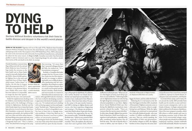 Article Preview: DYING TO HELP, October 2004 | Maclean's