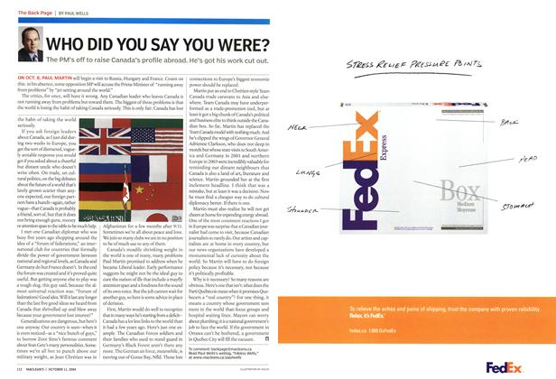 Article Preview: WHO DID YOU SAY YOU WERE?, October 2004 | Maclean's