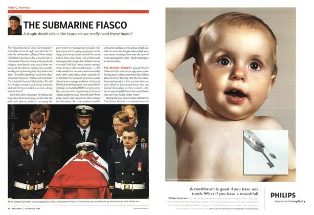 Article Preview: THE SUBMARINE FIASCO, October 2004 | Maclean's