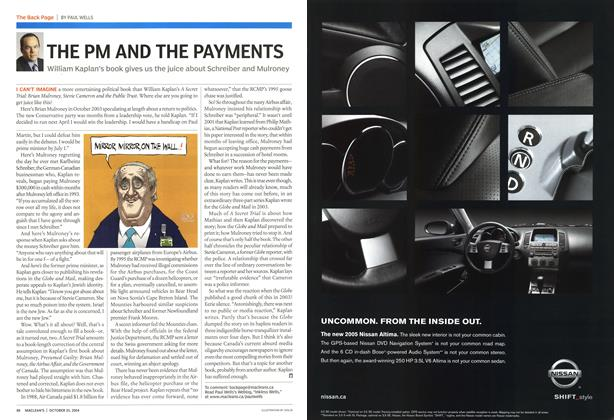 Article Preview: THE PM AND THE PAYMENTS, October 2004 | Maclean's